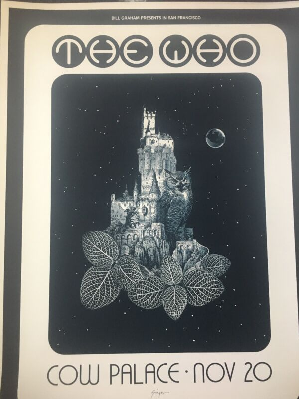 The Who Cow Palace Bill Graham Authentic Rare 1973 Telephone Pole Concert Poster