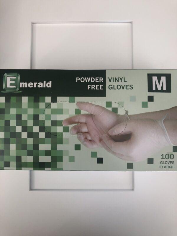Emerlad® Powder Free Vinyl Gloves, Medium, 100 Gloves / Box