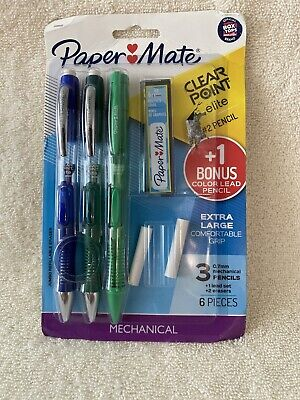 Paper Mate Clearpoint Mechanical Pencil Starter Set .7mm 3 Pencils 1 Bonus