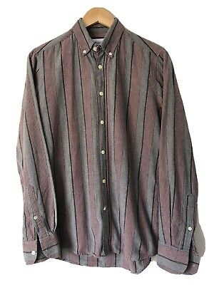 Our Legacy Striped Button Down Shirt Size Small