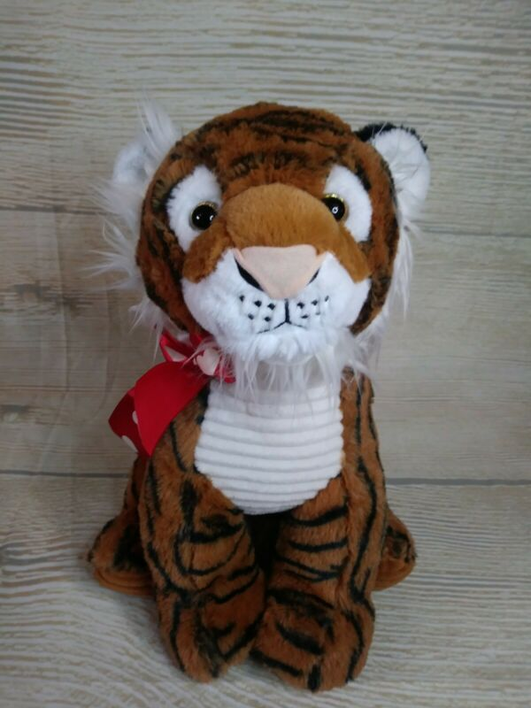 "New! L TIGER Plush Big Stuffed Animal Heart  Valentines Day Gift 16"" Wild King"