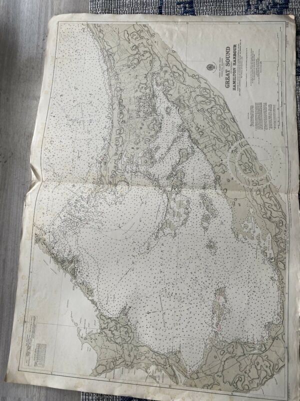 Orig Nautical Chart Map Bermuda Islands Great Sound Hamilton Harbor Issued 1941
