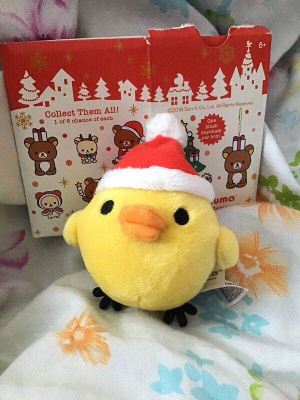 Rilakkuma Christmas Holiday Mini Keychain Duck Plush