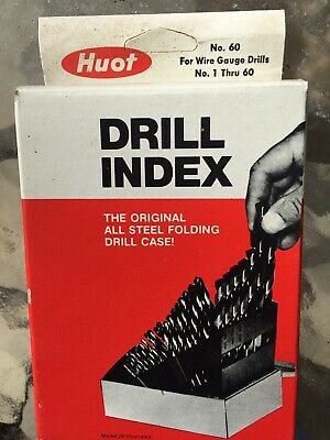 Drill Index For Wire Gauge Drills N.. 1 Through 60 Made By Huot