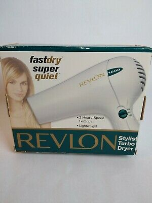 Revlon 1600 Stylist Turbo Hair Dryer #RV435 BRAND NEW vintage Turbo Stylist Dryer