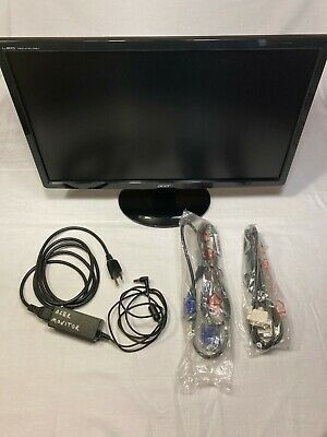 "Acer S201HL 20"" widescreen LED monitor with all cables"