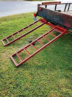 Ramps Steel Trailer Ramps Pair 2 Steel Trailer Loading Ramps - Heavy Duty New