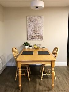 Kitchen/Dining Table and Two Chairs