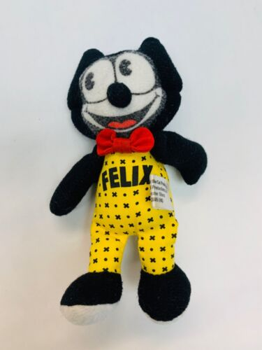 Felix the Cat Plush SMALL MINI 5 Inch Stuffed Animal Cute Collectible Black Cat