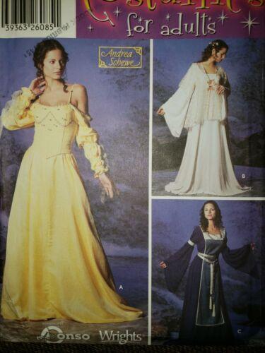 Simplicity Pattern 5843 OOP Ren Fantasy Romantic Medieval Size P5 12-20  - $3.75