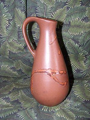 Vintage Brown Glazed Ceramic Art Pottery Pitcher Vase, Marked 701 Canada