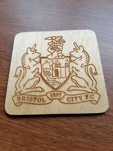 Bristol city fc , laser engraved coaster, gift idea
