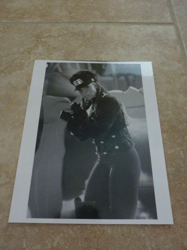 Janet Jackson Live 90's 8x10 B&W Publicity Picture Promo Photo #3