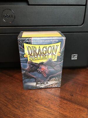 Dragon Shield Sleeves Pack of 100 Standard Size Card Sleeves Black Matte
