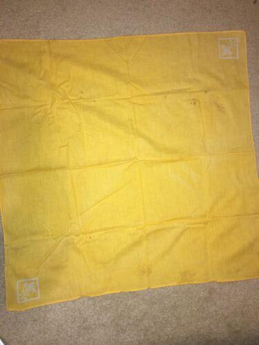 Boy Scout Yellow w/ White Full Square Tenderfoot Uniform Silkscreen Neckerchief