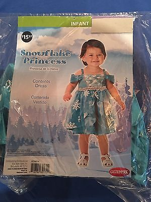 Infant Snowflake Princess Halloween Costume 0-6 months or 6-12 months
