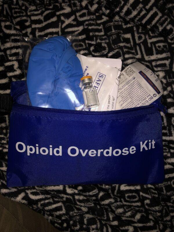 1 dose .4MG INTRAMUSCULAR NARCAN/NALOXONE EMT EMS PROFESSIONAL BLUE KIT