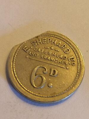 E SHEPHARD LTD 6D token - Gateshead & branches