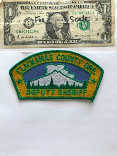 Clackamas County Oregon Police Patch Deputy Sheriff Un-sewn great condition