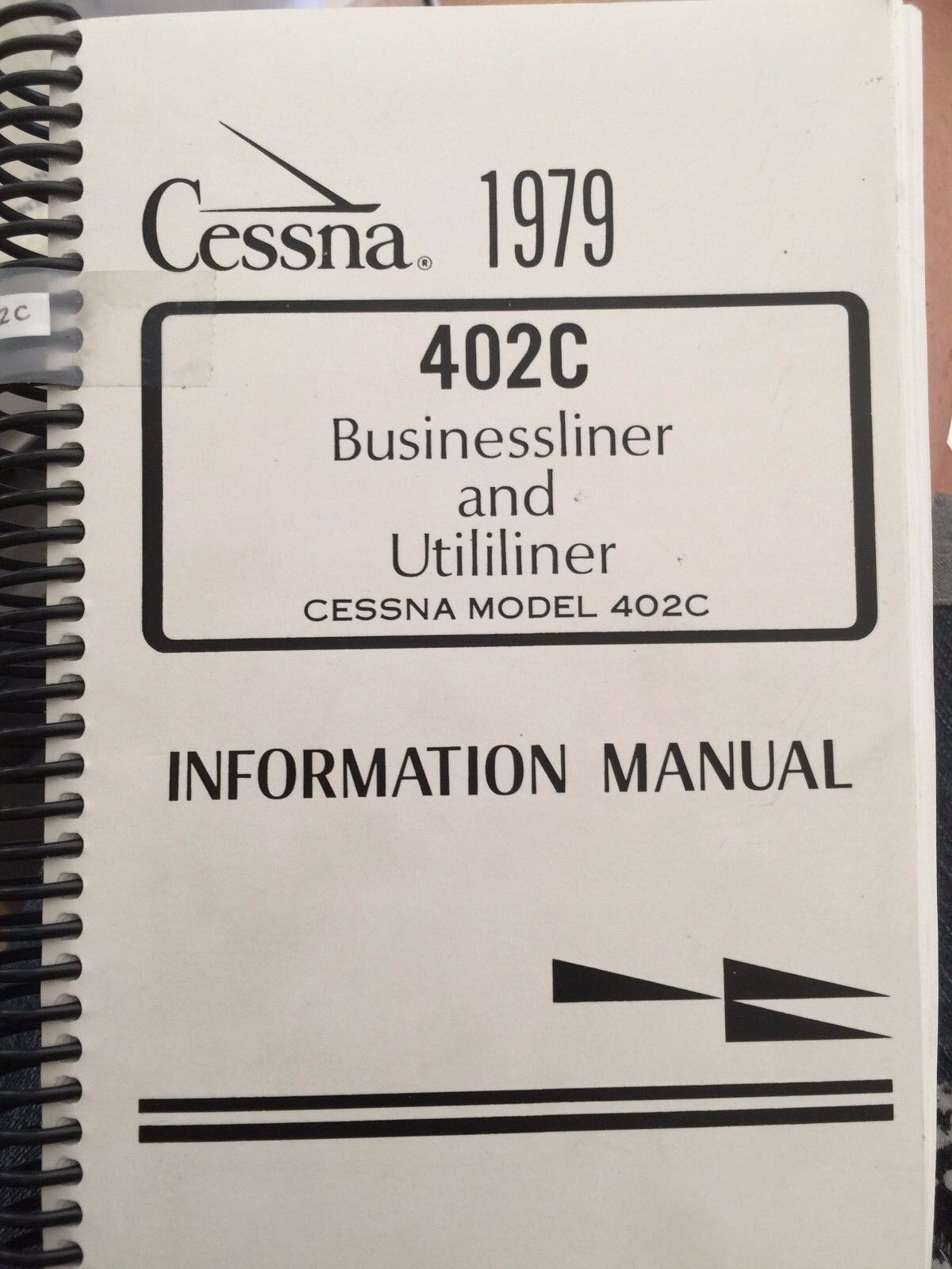 New Cessna 1979 402C Ringed Flight Information Manual D1571-13 79402IM