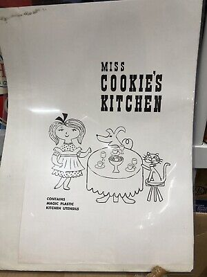 Vintage 1960s Miss Cookie's Kitchen Colorforms Play Kit Pre Production Proof