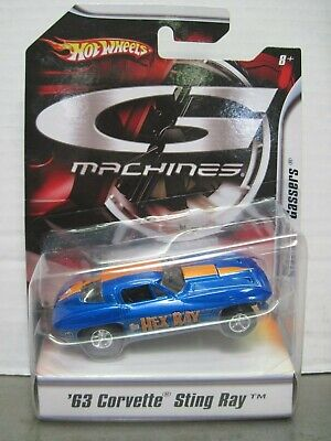 Hot Wheels G Machines Hex Ray '63 Chevy Corvette Sting Ray 1963 Chevrolet 1/50