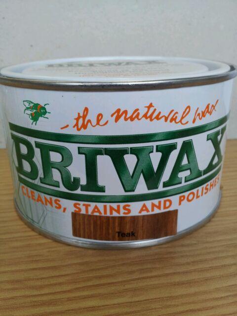 Briwax Original Wax (TEAK) Furniture Polish 400g tin.