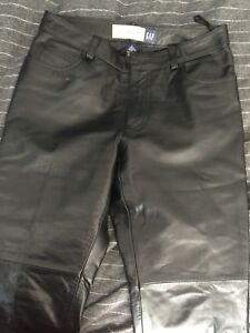 Women's gap  Leather motorcycle pants size 4