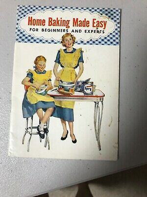 "Spry Recipe Book ""Home Baking Made Easy"" 1953 Vintage"