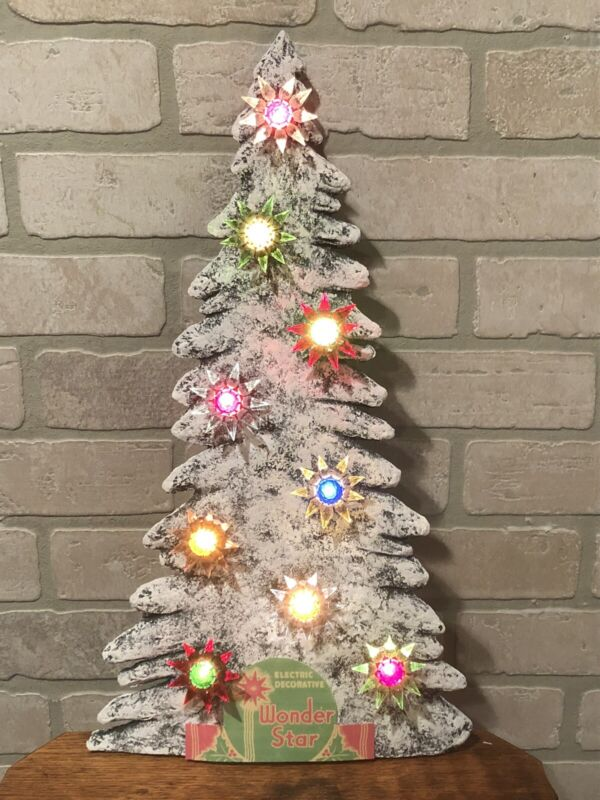 Paper Mache C6 Matchless Star Display Tree - Drilled Holes for Sockets