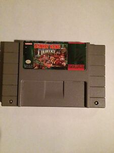Donkey Kong Country Super Nintendo Game