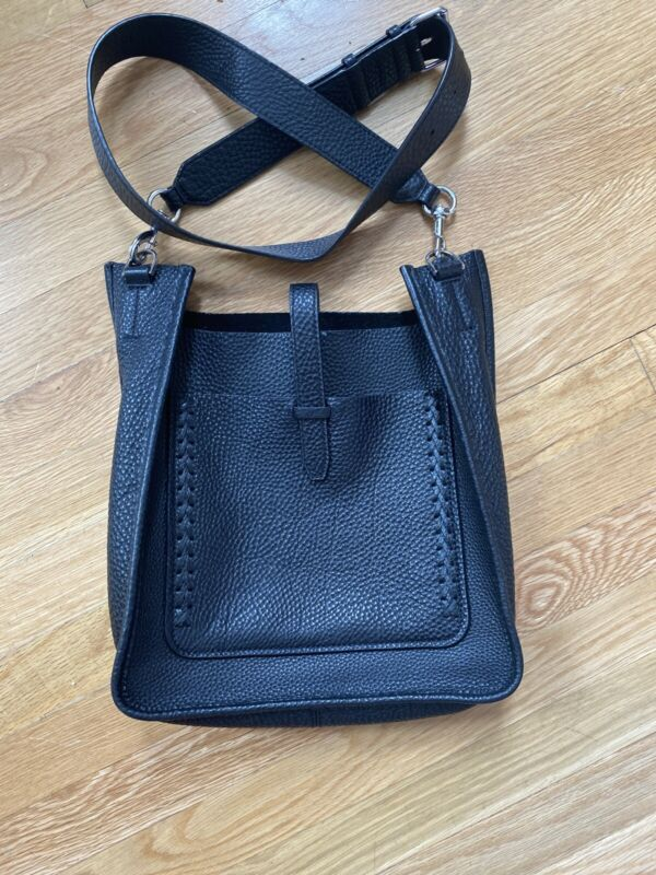 Rebecca Minkoff Unlined Feed Bag with Whipstich Black Pre-owned