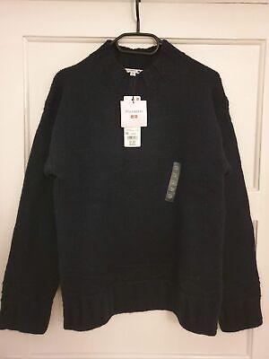 Uniqlo x J.W. Anderson Low Gauge Crew Neck Long-Sleeve Sweater Navy - XS