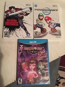 Wii wiiU and gamecube games