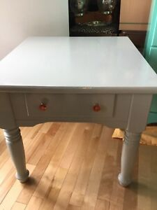 Single blue side table