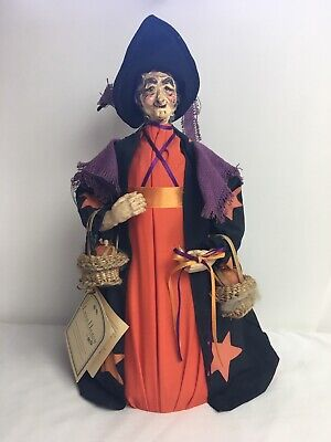 Lynn Haney Canon Falls Witch Tree Topper With Pumpkin Baskets - Witch Tree Decoration