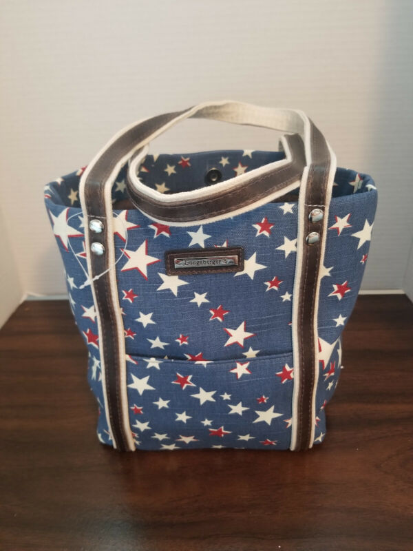 Longaberger Homestead Patriotic Stars Tote Bag