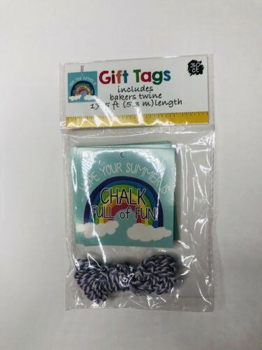 Gift Tags Teacher Summer Student 30 CT Twine Rainbow Blue Purple Party