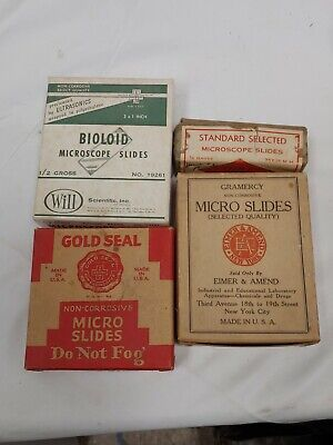 Vintage Microscope Blank Slides Lot New Old Stock Look