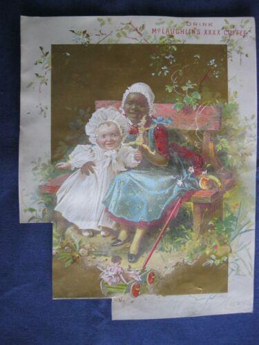 Victorian Trade Card CHILDREN Play McLaughlin XXXX Coffee Black Americana G