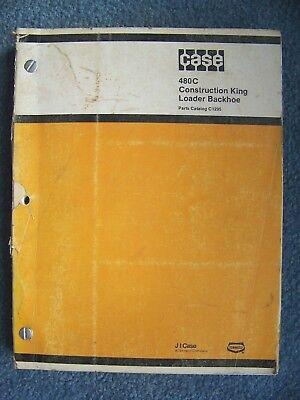 Case 480c Construction King Loader Backhoe Parts Catalog Manual C1295 1983