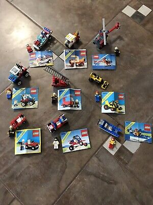 Vintage Lego Lot 9 Vehicles Complete With Instructions