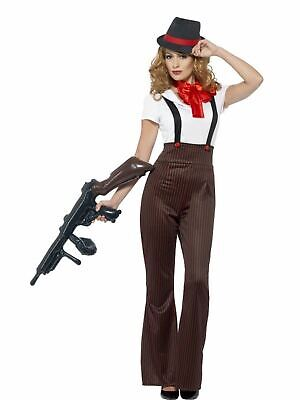 Gangsters Moll Womens Sexy 1920s Ladies Fancy Dress Costume Outfit Sexy Party