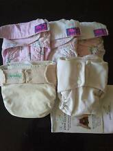 5x Cloth Re-usable Nappies - Peapod, BioBaby & Zappy branded Palmwoods Maroochydore Area Preview
