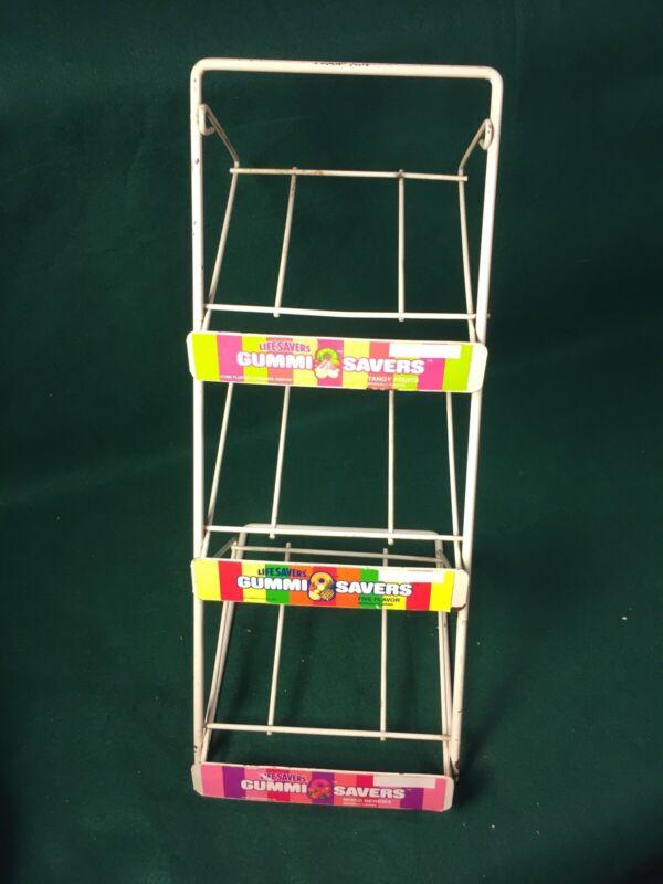 Vintage GUMMI SAVERS LIFE SAVERS Counter Top STORE DISPLAY Rack