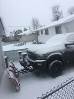 Snow plowing  cheap and reliable service