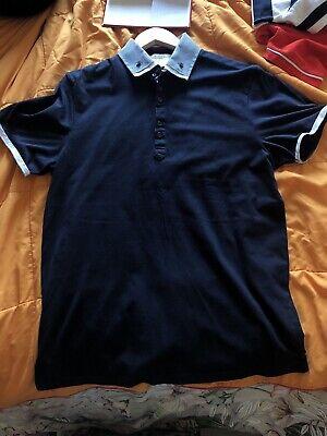 Mens Burton Menswear Blue Polo Shirt Size L