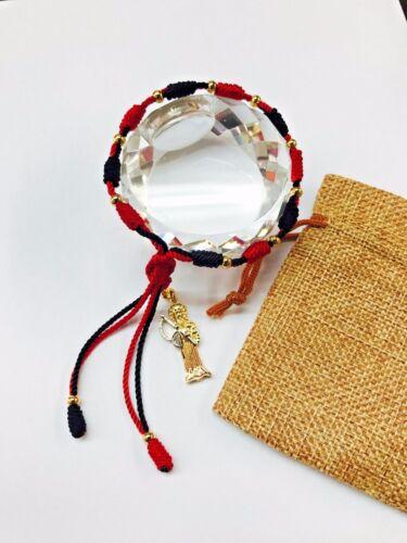Holy Death BK/RD Bracelet Santa Muerte pulsera  oro laminado hecha a mano
