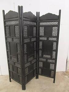 C47076 Beautiful 3 Fold Oriental Carved Screen Room Divider Unley Unley Area Preview