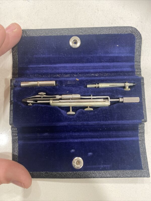 Vintage TACRO Drafting Tool Compass Set Made in GERMANY 503 In Box